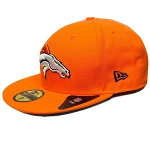 New Era Denver Broncos Hat Sz 8 Flat Bill 59Fifty